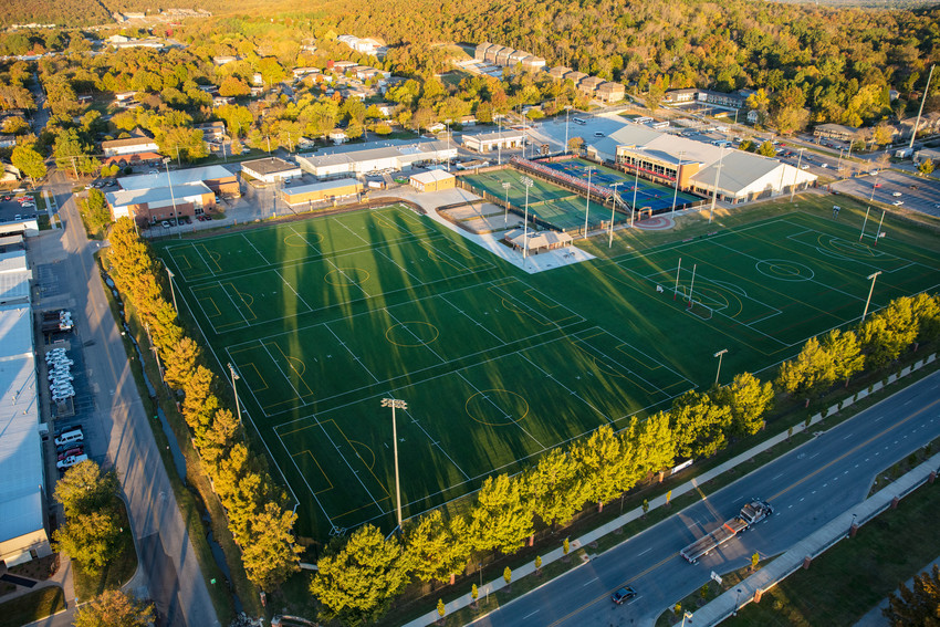 drone footage of UREC sports complex by university relations