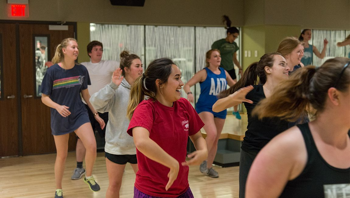 Fitness class at University Recreation