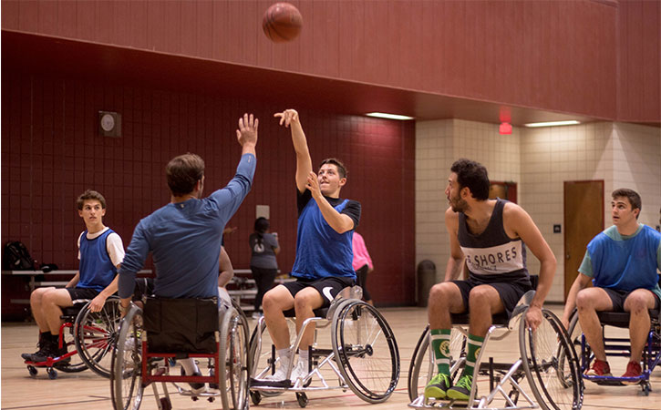 Play wheelchair basketball for free and learn how to play from our certified personal trainers.