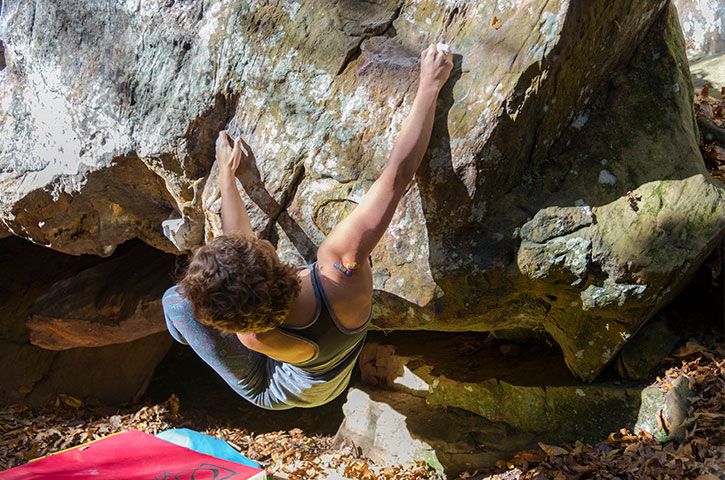 bouldering in northwest arkansas