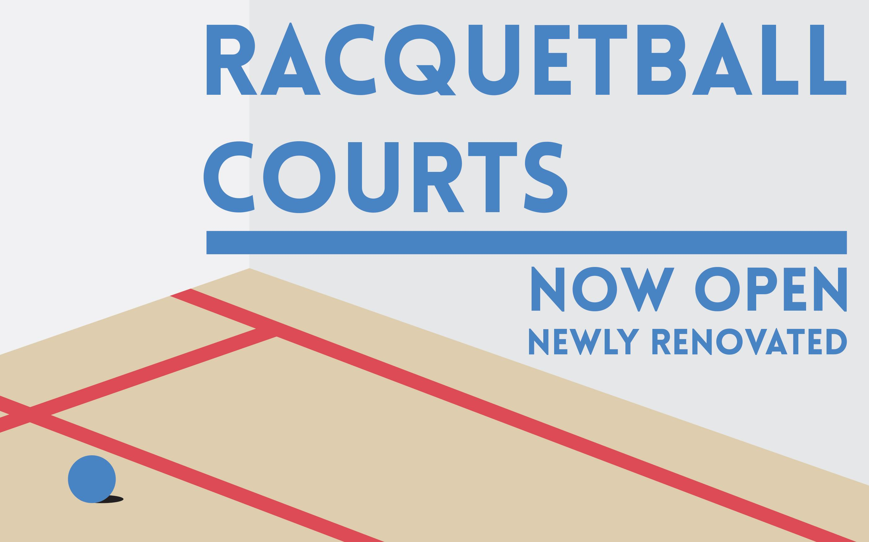 Visit HPER Floor 1 to try out the newly renovated racquetball courts.