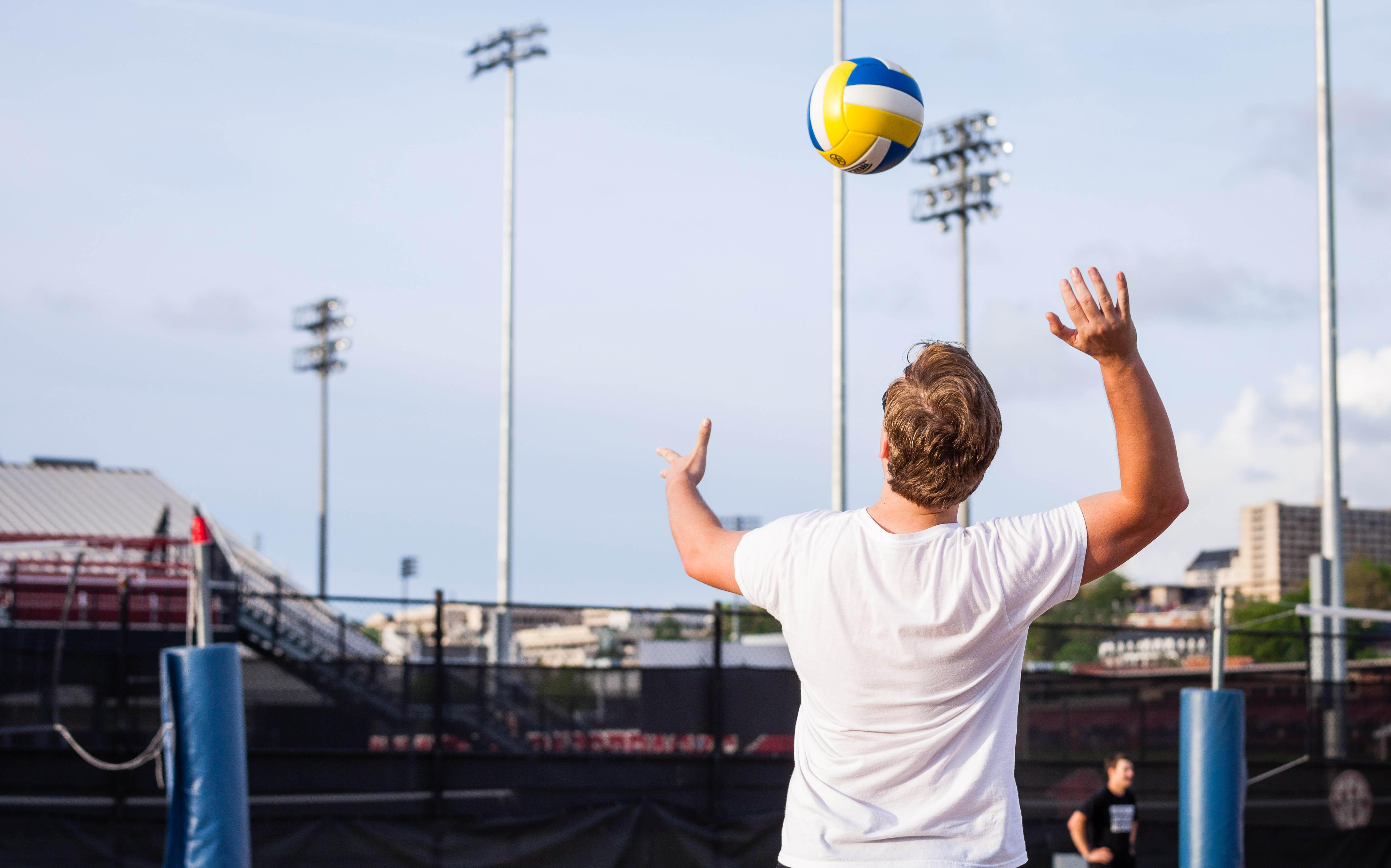 Sand Volleyball Registration is open from March 26 until April 4. Click the slide to register your team.