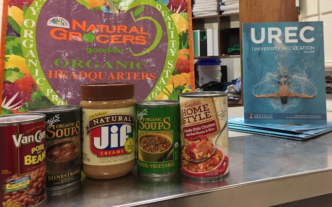 Donate canned goods to help UREC Club Sports beat other SEC schools for the most donations.