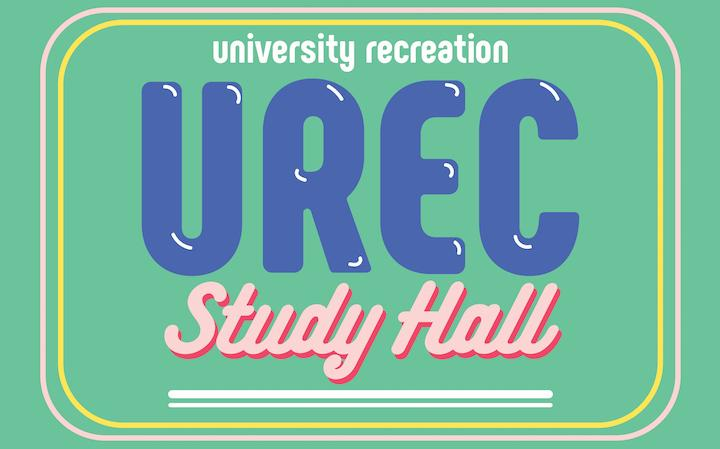 UREC is opening study space in HPER 220 on May 7-9 from 5-10 pm. Enjoy a quieter environment, free food, chair massages, coloring, and brain break activities.
