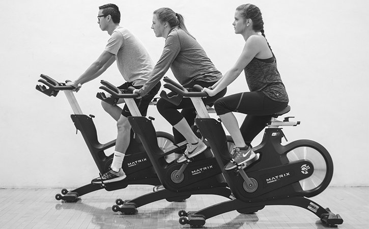 Group cycling classes are now available in the new UREC Cycle studio.