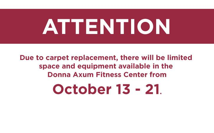The UREC Fitness Center in the Arkansas Union will be open during this time.