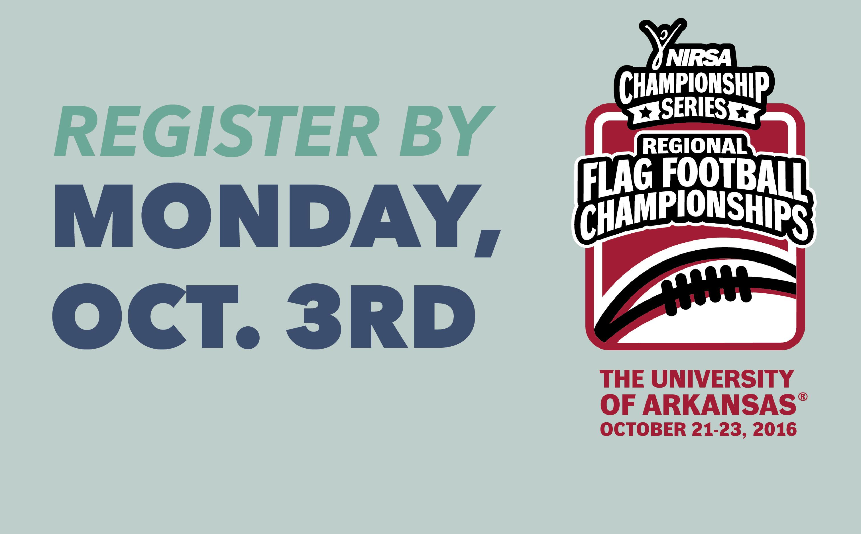 UREC will host NIRSA's Region IV flag football tournament in October.